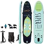 LXDDP-Stand-up-Paddle-Board-Gonfiabile-Stand-up-Paddleboard-con-Accessori-SUP-gratuiti-Piattaforma-Antiscivolo-Paddle-Regolabili-Pompa-Cinturino-alla-Caviglia-di-Sicurezza