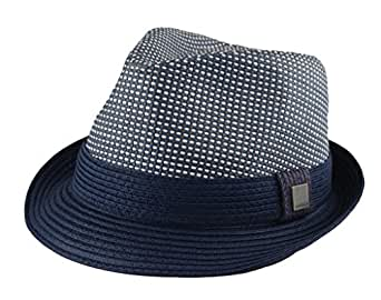 Mens Big Size 2 Tone Summer Straw Fedora Trilby Hat XL(60cm) XXL(62cm) 2  Colors (XL - 23 1 2 in  7 1 2   60cm e04413f6254