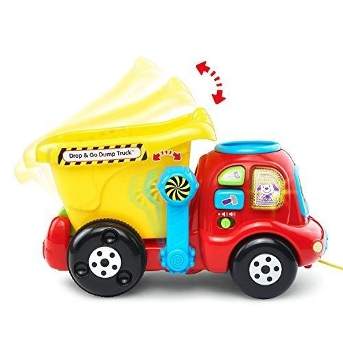 VTech Drop and Go Dump Truck >>>> VTech Drop and Go Dump Truck Toy Kids Learning Baby Toddler Colorful Play Fun