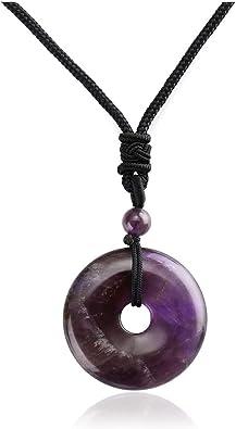 Chakra Reiki Healing Pendant on a Princess wax cord adjustable Necklace Quartz TumbleStone Gemstone Pendant Necklace The Energy Stone