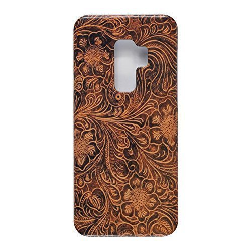 Tooled Leather Look. Slim Phone Case for Samsung Galaxy S9 Plus