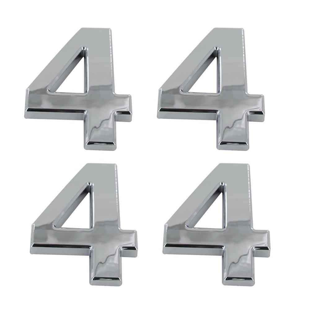 9 Tocone 4pcs N/úmero Casa 0 a 9 Signo Vivienda Calle N/úmeros Placas de Direcci/ón N/úmero de Casa para Puerta Buz/ón Hotel Casa Plata 5cm