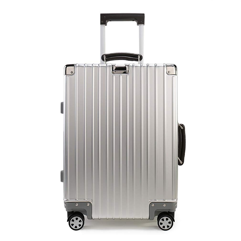 Universal Wheel Aluminum Frame Trolley case Rayem Fashion Luggage Color : Silver, Size : 26 Ultra-Light and Durable Password Suitcase