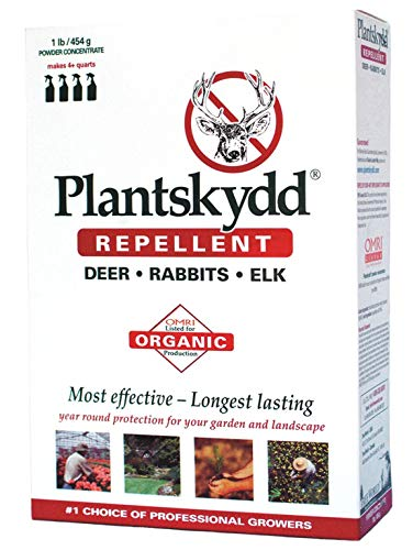 Plantskydd Deer Repellent 1 lb Soluble Powder, Makes 1 Gallon of Product for Year Round Control of Deer, Elk, Moose, Rabbits and Voles