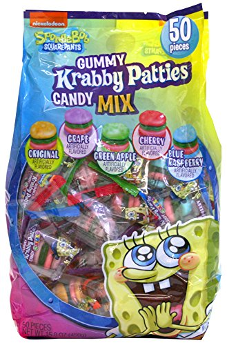 Frankford Candy Company Krabby Patties Mix, Assorted Fruit, 50 Count (Pack of 10) -