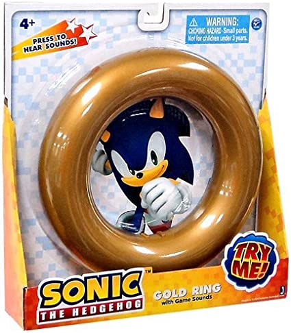 Sonic The Hedgehog Gold Ring With Game Sounds By Jazwares Board Games Amazon Canada