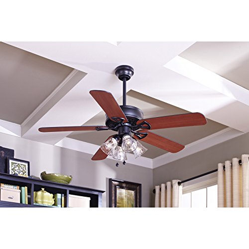 Harbor breeze springfield ii 52 in matte black downrod or flush harbor breeze springfield ii 52 in matte black downrod or flush mount ceiling fan with light kit amazon aloadofball Choice Image