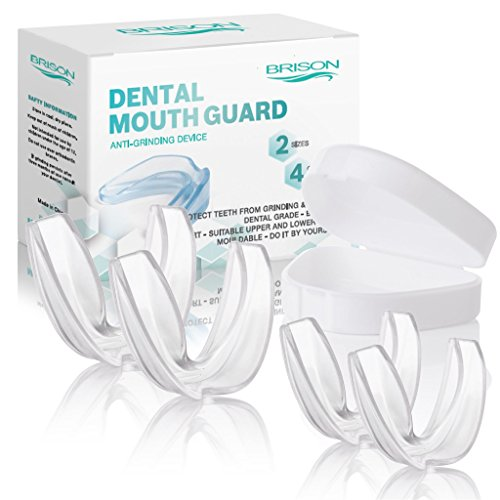 Night Mouth Guard - Professional Dental Sleeping Protector Bite and Snoring Guard for Whitening Tray Mouthguard Stops Teeth Clenching, Eliminates Grinding - Pack of - Snoring Bite