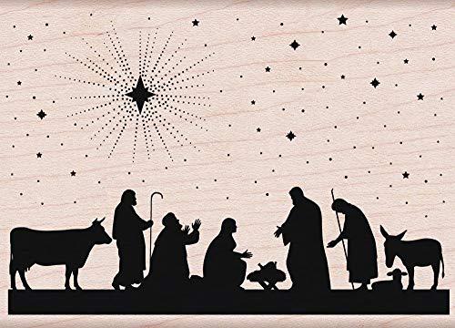 Nativity Door - Hero Arts Nativity Woodblock Stamp