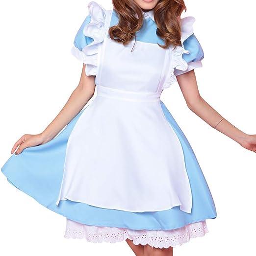 SHIXUE Alice in Wonderland Disfraz Cosplay Adulto Disfraz De ...