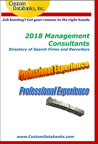 Amazon.com: 2018 Management Consultants Directory of Search Firms ...