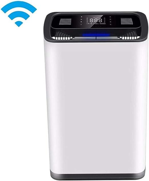 Daxiong Purificador de Aire, humidificación doméstica, además de formaldehído, esterilización, bacterias, Dormitorio, Ion Negativo, Silencio, WiFi.: Amazon.es: Hogar