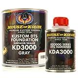 House of Kolor QUART KIT GRAY Color KD3000 DTS Surfacer / Sealer w/ Hardener