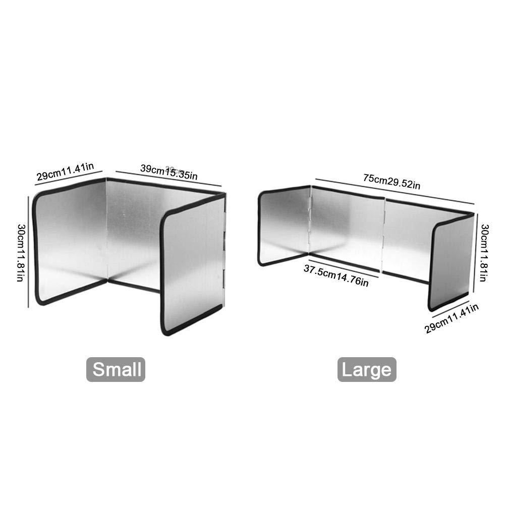 ZSLGOGO Protector contra Salpicaduras de Salpicaduras para sart/én Paneles contra Salpicaduras Panel de protecci/ón contra Salpicaduras Pantalla de Salpicaduras de Cocina F/ácil de Limpiar