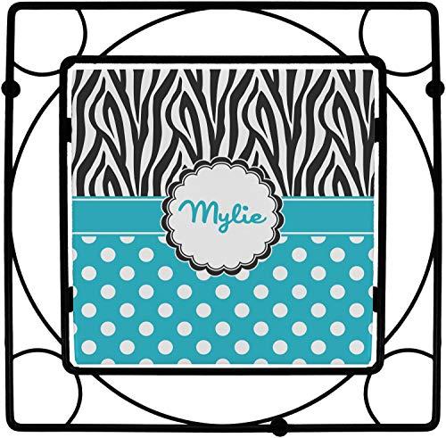 Dots & Zebra Square Trivet (Personalized) ()