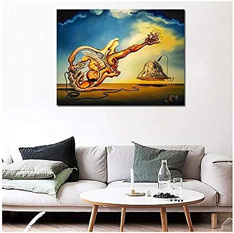 Salvador Dali - Cuadro de lienzo para decoración de salones o casas, diseño de obras de arte