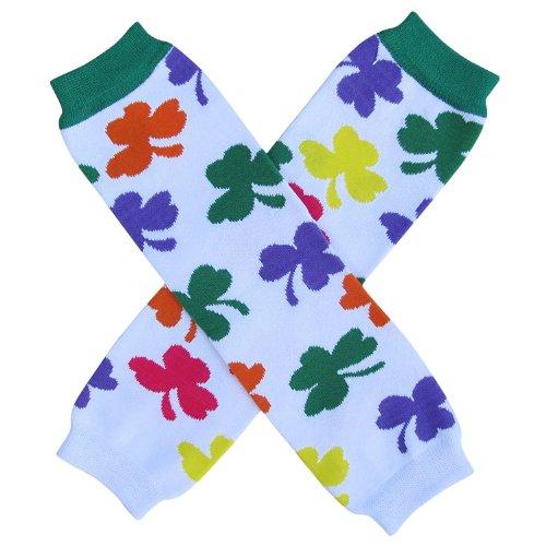 Shamrock St. Patrick's Day Irish Leg Warmers, One Size, Baby, Toddler, Girl, Boy (Shamrock Rainbow)