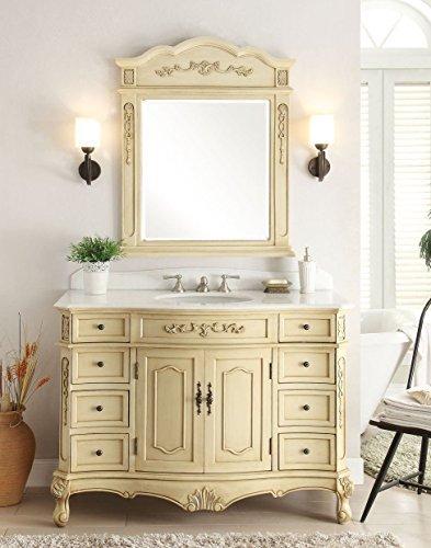 """42"""" Biege Fairmont Bathroom Sink Vanity w/ Mirror Model (Fairmont Bathroom Vanity)"""