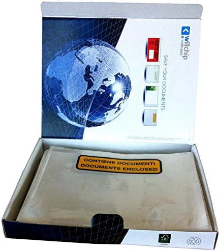 Willchip We PACK Polyethylene Transparent enveloppe 240 x 135 mm, Poly/éthyl/ène, Transparent, 240 mm, 13,5 cm enveloppes