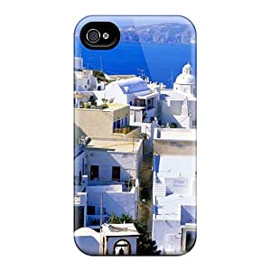 Awesome BmP7517uQmy ORRICO Defender Tpu Hard Case Cover For Iphone 4/4s- Santorini Greece