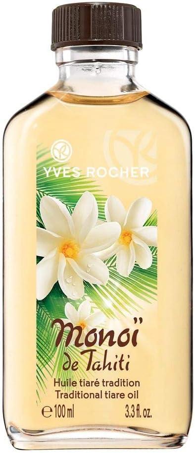 YVES ROCHER Monoi de Tahiti Aceite corporal protector, 100 ml Cuida la piel y el cabello con un exótico aroma a tiaré (valoración de Öko- Test: muy bueno).