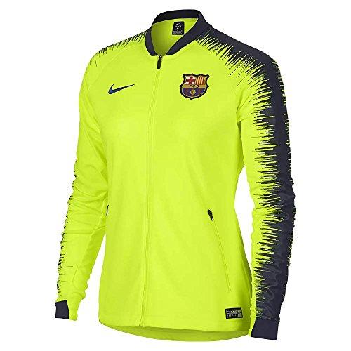 Nike 2018-2019 Barcelona Authentic Franchise Jacket (Volt) - Womens (Yellow Jacket Nike)