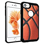 iPhone 7 Case, IMAGITOUCH 2-Piece Style Armor Case with Flexible Shock Absorption Case and Vintage Basketball Cover for 4.7' iphone 7 – Vintage Basketball Hybrid