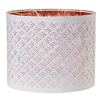 Ikea lamp shade white copper color