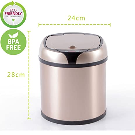 Stainless Steel Automatic Trash Can Touchless Automatic Motion Sensor Trash  Can Kitchen Trash Bin (1.58