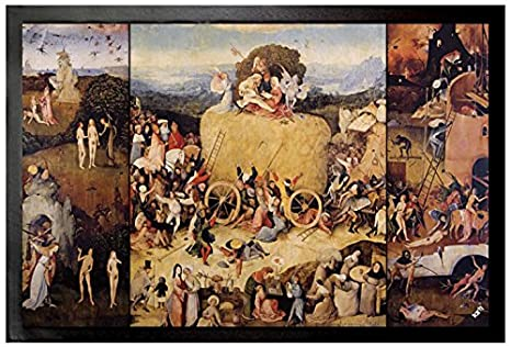 086d81da22e Image Unavailable. Image not available for. Color  Hieronymus Bosch Door  Mat Floor Mat - The Haywain Triptych ...