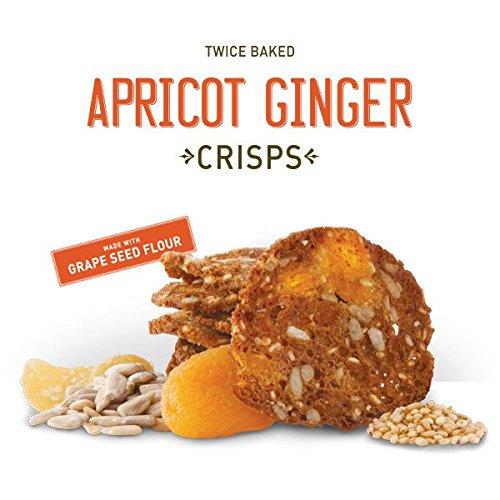 Wild California Twice Baked Crunchy Crisps 5oz (Apricot Ginger) (Ginger Crisp)