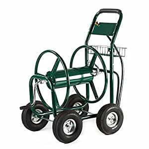 Garden Water Hose Reel Cart 300FT Outdoor Heavy Duty Yard Water Planting