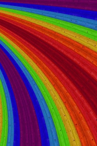 Price comparison product image Notebook: Wooden Rainbow Abstract 6 x 9 Blank Empty Unlined 200 Pages Numbered