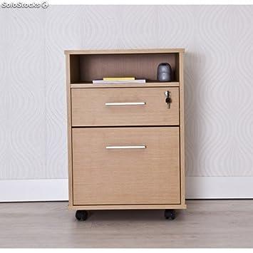 Intradisa 9004 - Meuble classeur pour bureau avec 1 tiroir - 1 classeur et 1 espace dans la partie supérieure ch