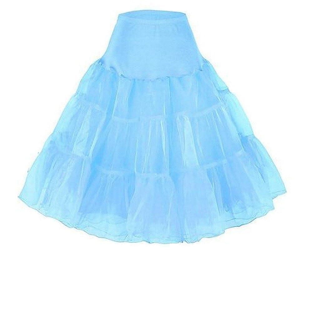 CharmingBridal A Line Short Slip 50s Vintage Rockabilly Petticoat Women's Skirt P007-ivory