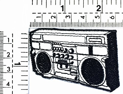Radio Cassette Tape Player Music Song Punk Rock Kids Cartoon Patch Applique for Clothes Great as Happy Birthday Gift -