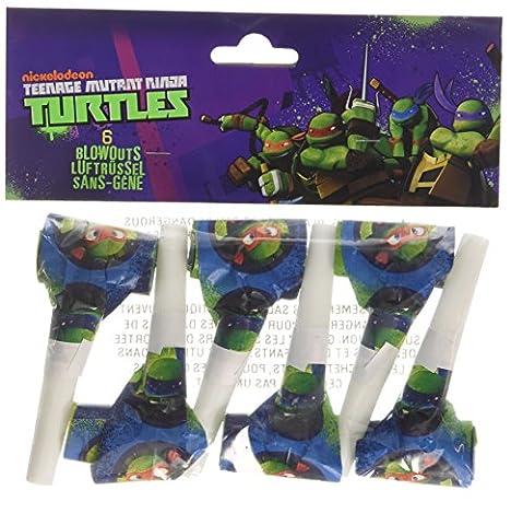 Teenage Mutant NInja Turtles 6pk Blowouts (Shredder Schildkröten Kostüm)