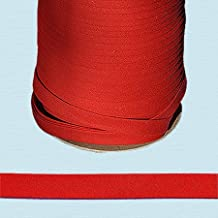 "Bias Tape ~ 1/2"" Wide Double-fold Bias Tape ~ RED ~ Poly Cotton (10 Yards / Pack)"