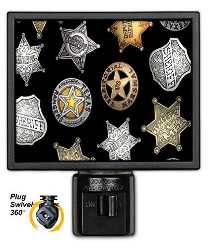 Art Plates NL-620 Black Badges Night Light
