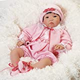 Paradise Galleries Reborn Asian Baby Girl Doll Nischi 21 inch in Realistic GentleTouch Vinyl & Weighted Body, 5-Piece Set