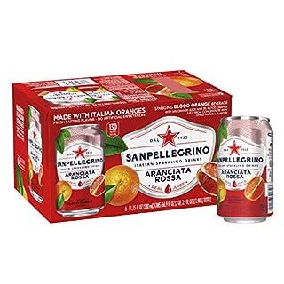Sanpellegrino Italian Sparkling Drink, Blood Orange, 11.15 Fluid Ounce, Cans (Pack of 6)
