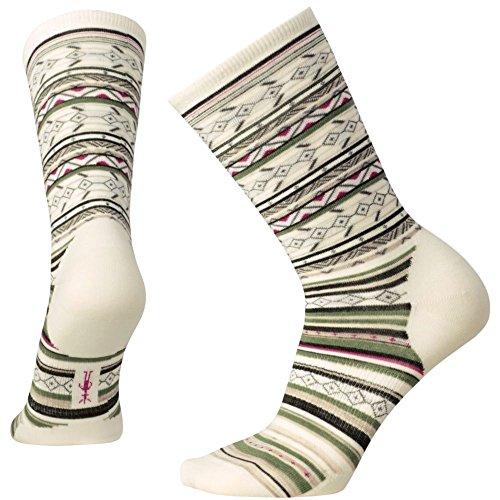Smartwool Women's Ethno Graphic Crew Natural Stripe Socks SM (Women's Shoe 4-6.5)
