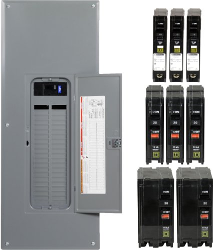 Square D by Schneider Electric QO Plug-On Neutral 200 Amp Main Breaker 42-Space 42-Circuit Indoor Load Center - Value Pack ()