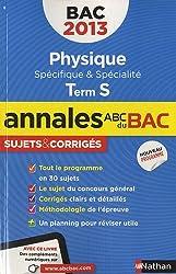 Physique Tle S : Sujets & corrigés