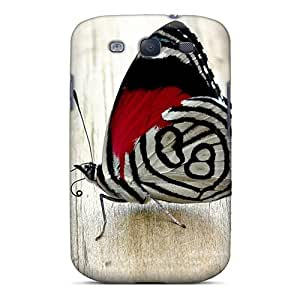 Anti-Scratch Cell-phone Hard Cover For Samsung Galaxy S3 With Unique Design Lifelike Butterfly Pattern MansourMurray