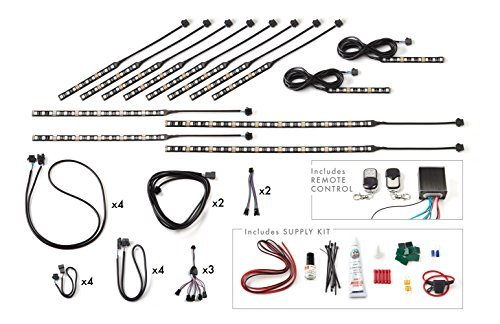 Joe Florida Super Bright 180 LED Accent Lighting Kit - MultiColor with Remote, 14 Pieces