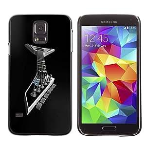 Caucho caso de Shell duro de la cubierta de accesorios de protección BY RAYDREAMMM - Samsung Galaxy S5 SM-G900 - Metal Guitar