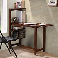 Washington 47 Writing Desk with Side Shelf and Chair Accessory: Without Chair