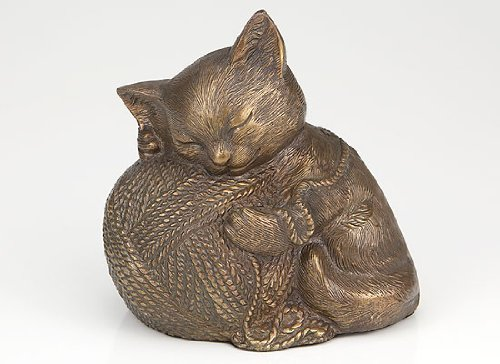 Ever My Pet Precious Kitty Bronze Urn by Ever My Pet