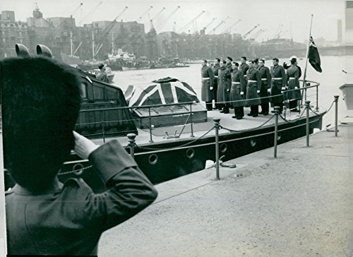 Vintage photo of Winston Churchill39;s funeral. The harbor cranes at the Thames were all lowered to the salute for the -